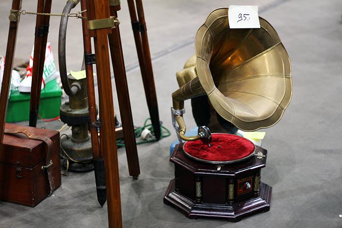 VerzamelaarsJaarbeurs Collectors Fair Utrecht 2014 Vintage Retro Antiek Grammofoon speler platenspeler Grammophone