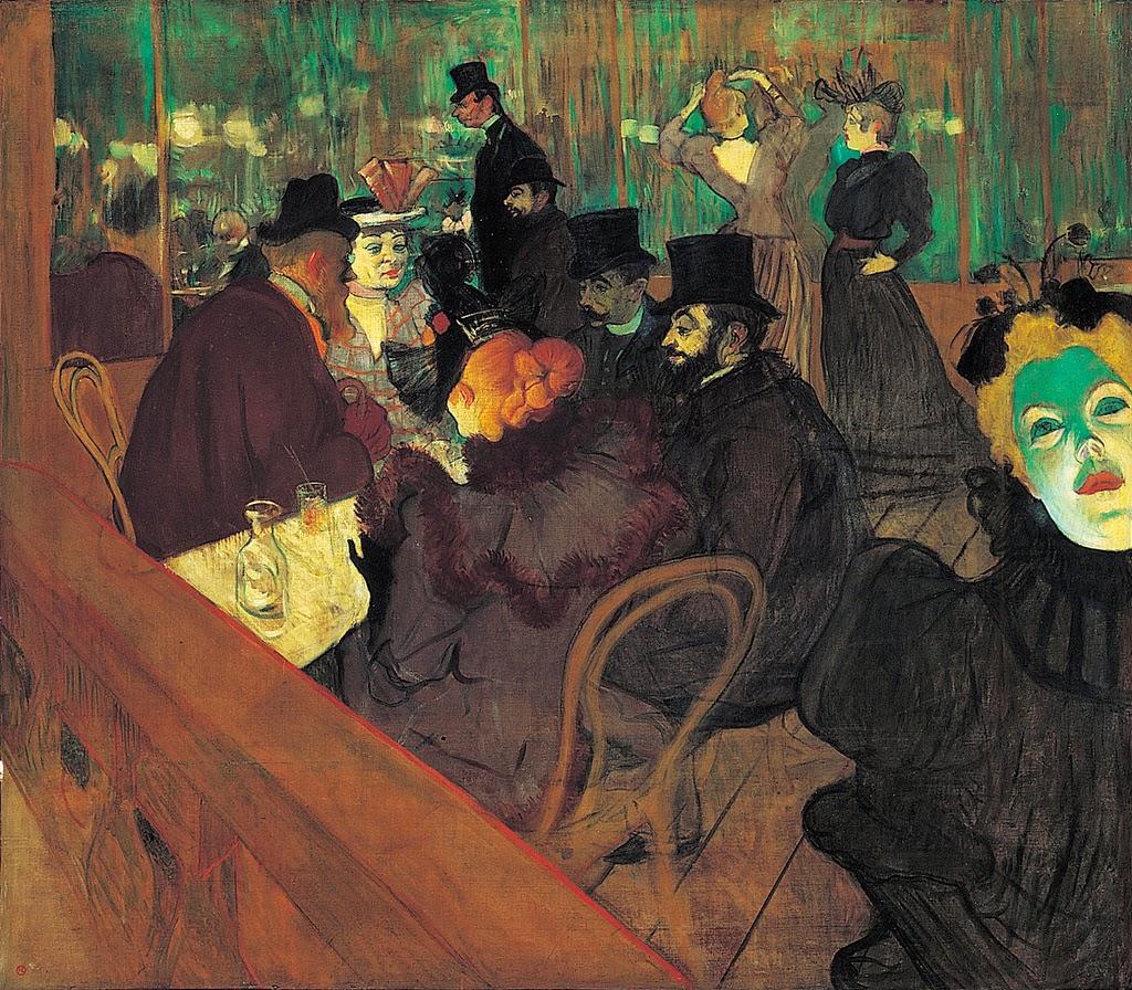 French painters henri de toulouse lautrec at the moulin - Art de la table toulouse ...