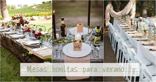 Mesas jardin decorar tu casa es for Como poner una mesa bonita