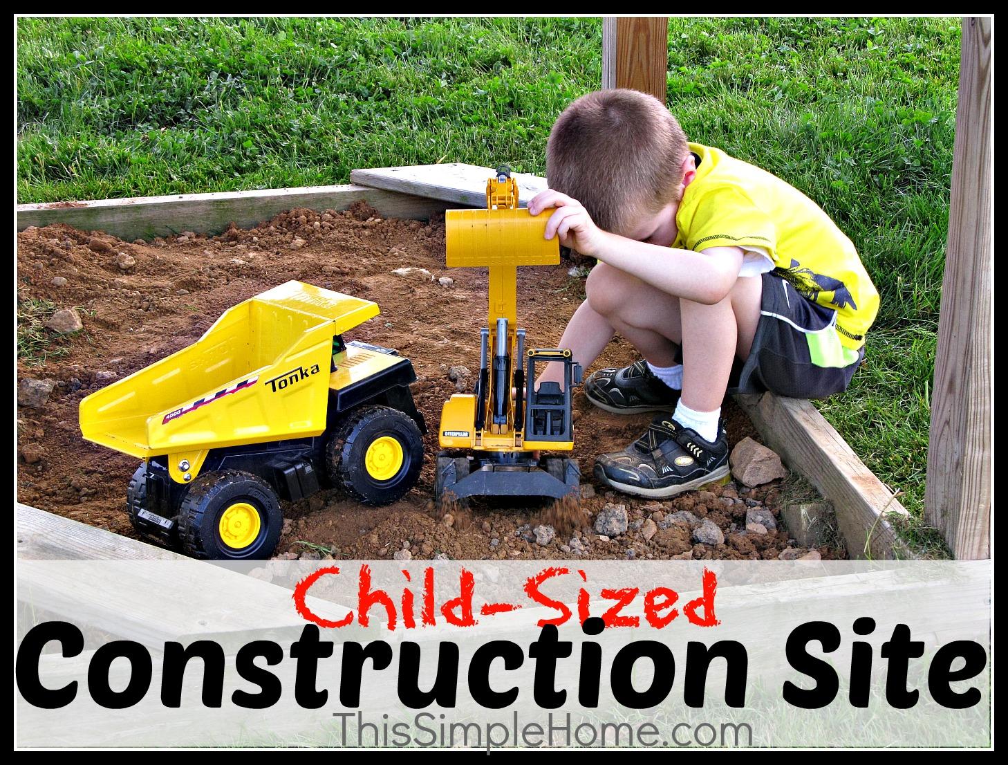 this simple home children u0027s construction site diy