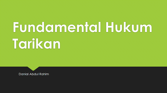 Fundamental Hukum Tarikan.