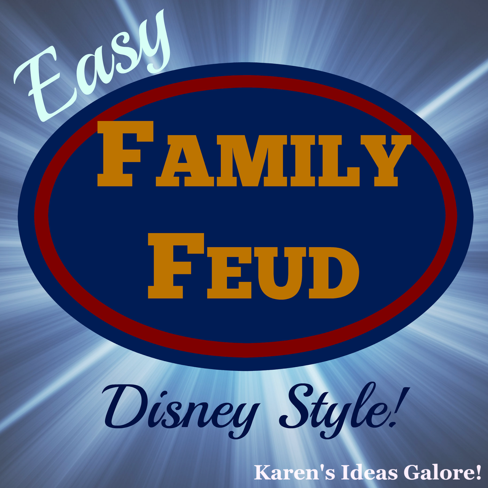 picture regarding Family Feud Printable identified as Karens Options Galore!: Disney \