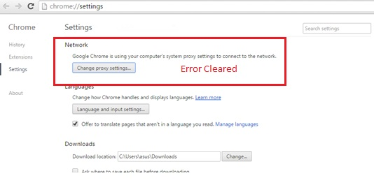Fix for Chrome: These Settings Are Enforced By Your Administrator. A