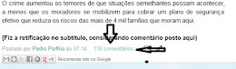 Como postar um comentrio neste blog. Passo 1