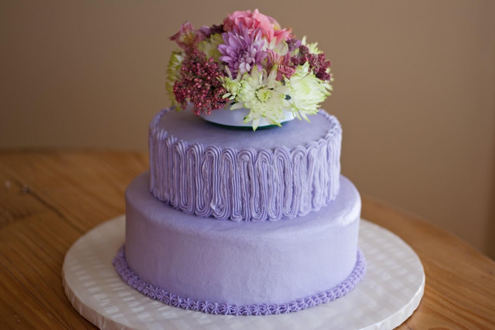Lavendar 80th Birthday Cake