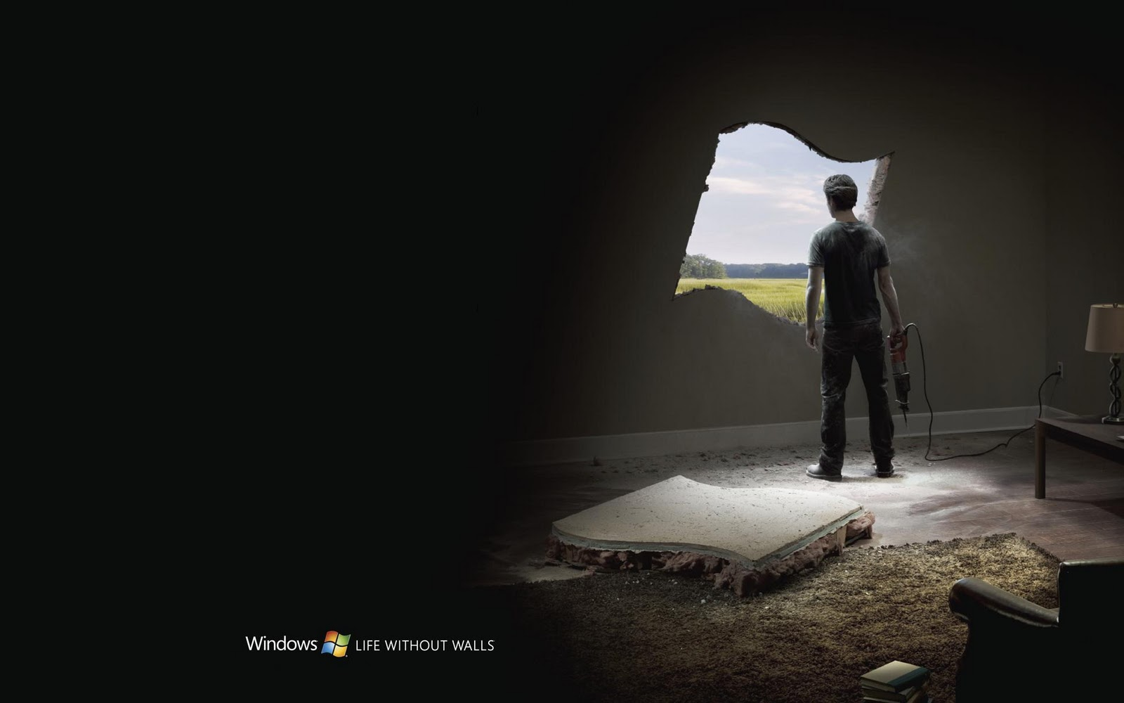 Black Desktop Wallpaper Windows 7