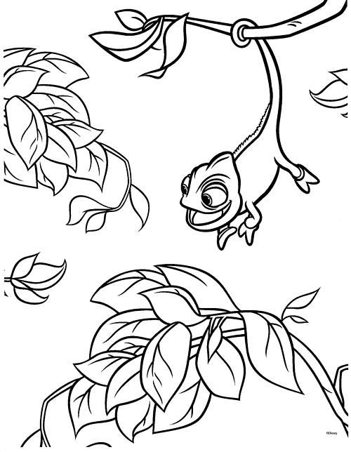 Tangled Coloring Pages : Rapunzel and Friends title=