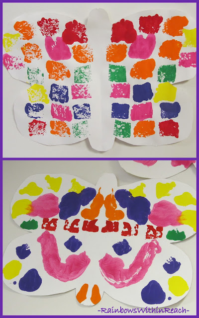 photo of: Symmetric butterfly painting in Preschool