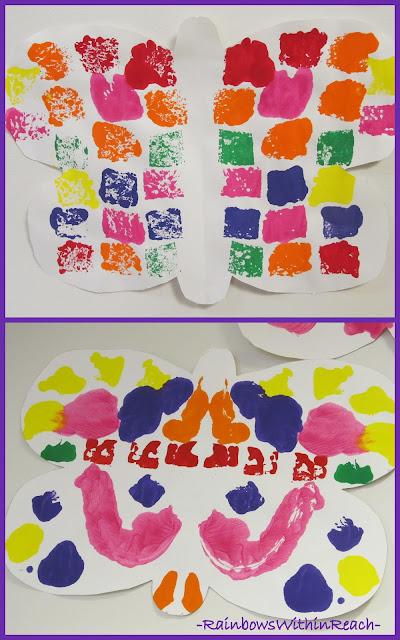 photo of: Symmetric butterfly painting in Preschool
