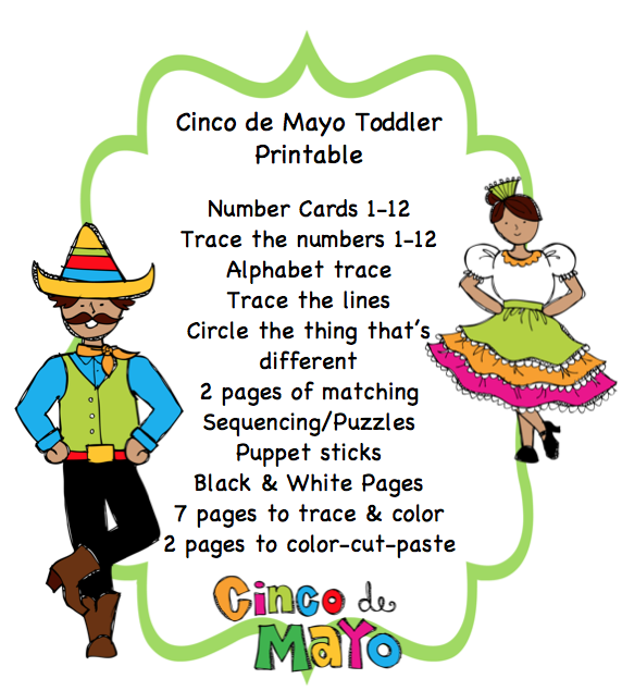 cinco de mayo activities for preschoolers cinco de mayo toddler printable preschool printables 457