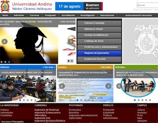 Ingresantes examen UANCV 2014-I Examen Universidad Andina Néstor Cáceres Velásquez 5 de Enero