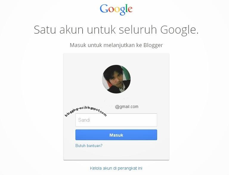 log in form blogger dengan gmail
