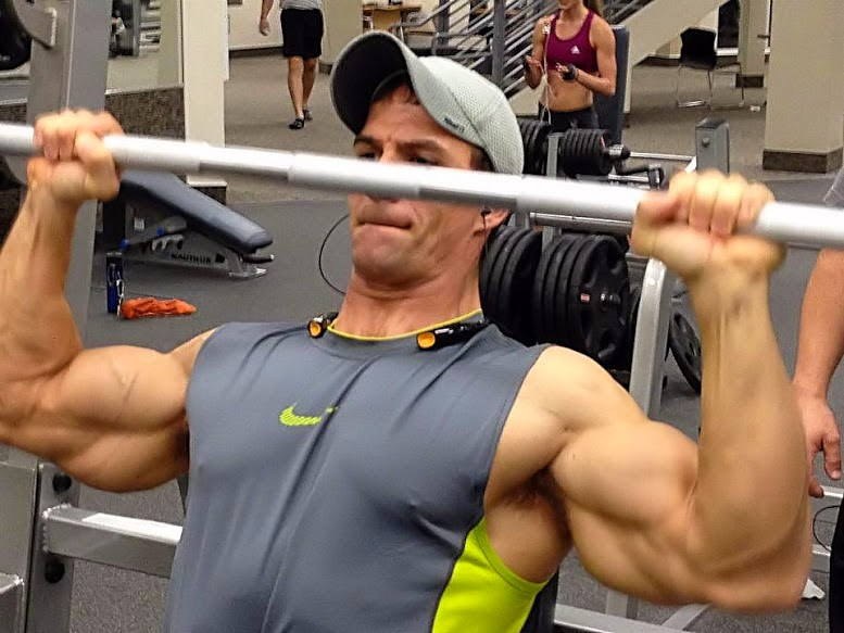 Muscular Man Armpits Working Out