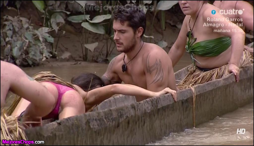 El descuido de Cristina Merino llegó al subir a una canoa donde