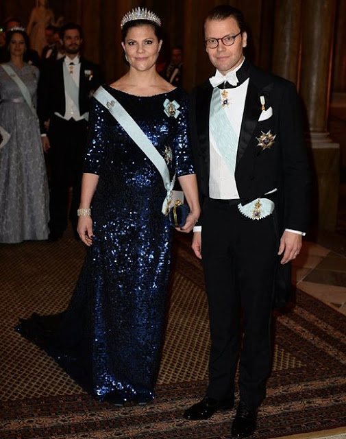 Swedish Royals At The King's Dinner For 2015 Nobel Prize Winners