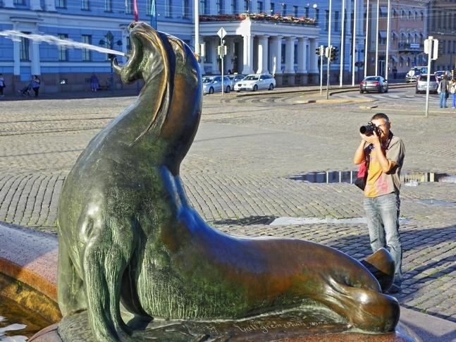 Un día de turismo por Helsinki