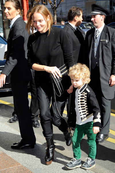Photo of Stella McCartney & her Son  Miller Alasdhair James Willis