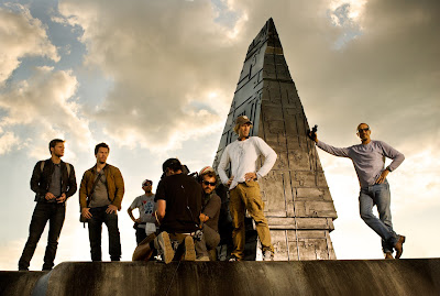 Transformers 4 Set Photo Featuring Michael Bay and Mark Wahlberg