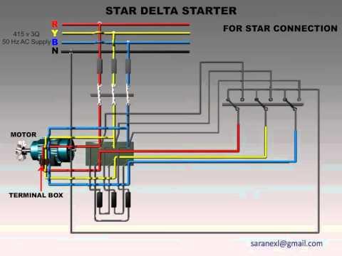 star delta starter for star connection elec eng world Star Delta Motor Wiring Diagram star delta starter for star connection star delta wiring diagram for ac motor