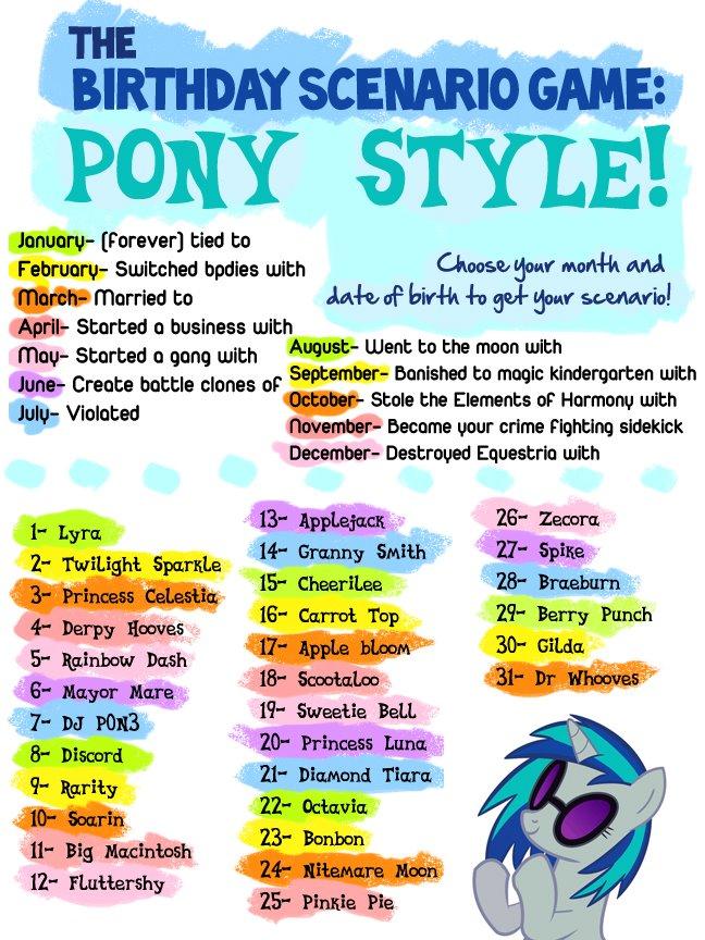 Pony Birthday Scenario Game 151