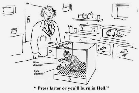 Press faster or you'll burn in hell