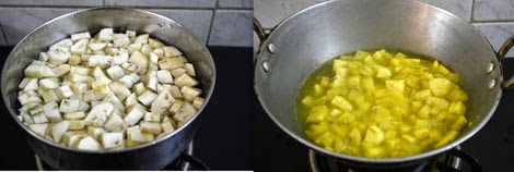 vazhaikkai-raw banana poriyal