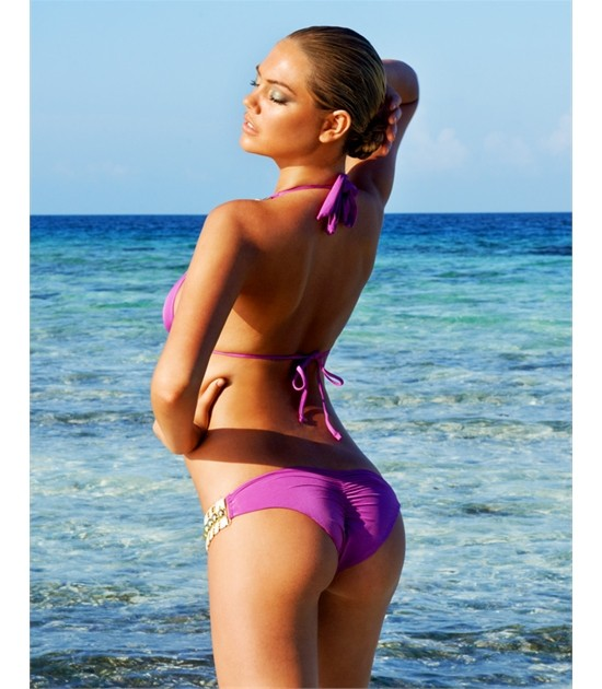KATE UPTON shows off her great figure in purple bikini by Beach Bunny 2012