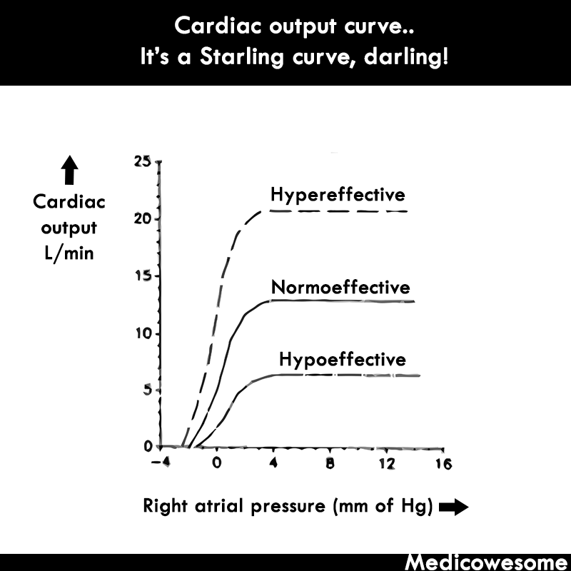 medicowesome cardiac output and venous return curve mnemonic