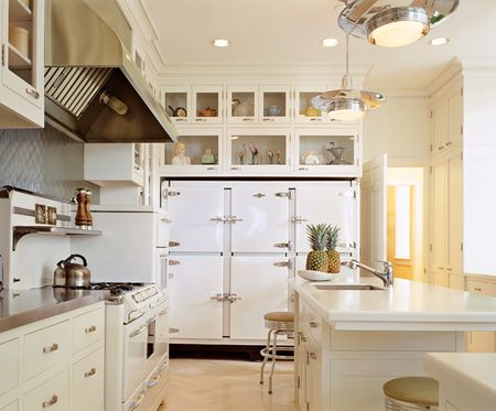 Vignette design stainless steel vs white appliances for Kitchen designs with white appliances
