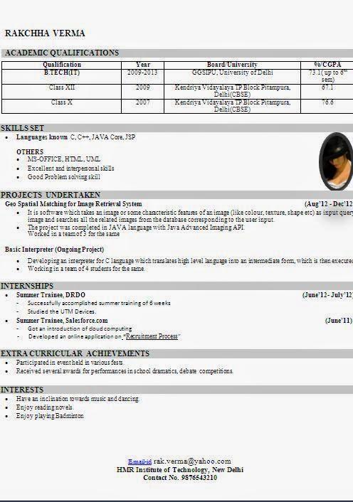 cv format in doc