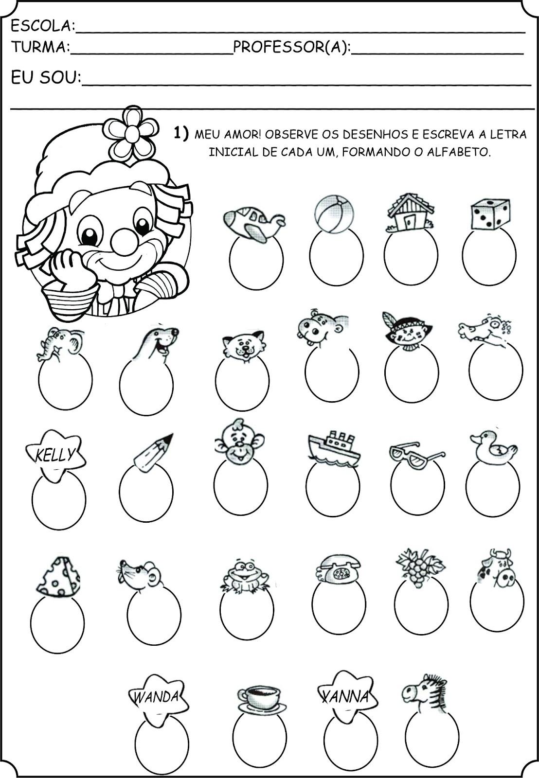Excepcional Atividades alfabeto - A Arte de Ensinar e Aprender UF34