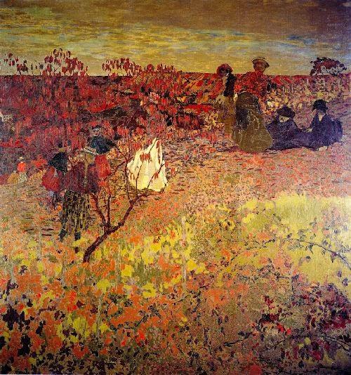 Promenade dans les vignes de Edouard Vuillard, 1900