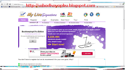 Cara Membuat Tanda Tangan Online Untuk Blog