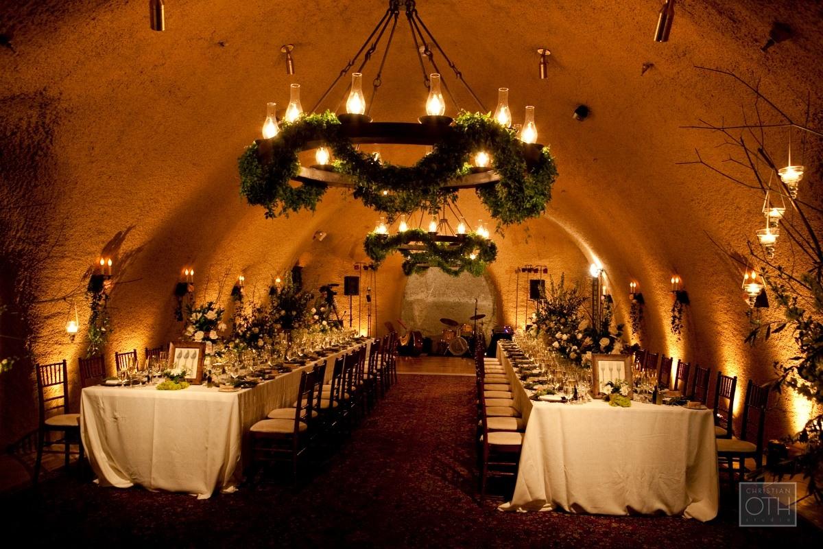 blooms blog calistoga ranch wedding wine cave reception