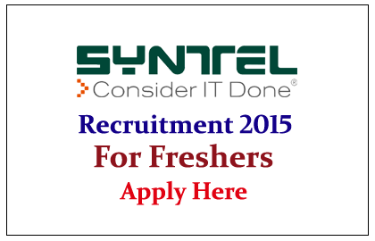 Syntel Hiring Freshers for the year of 2015