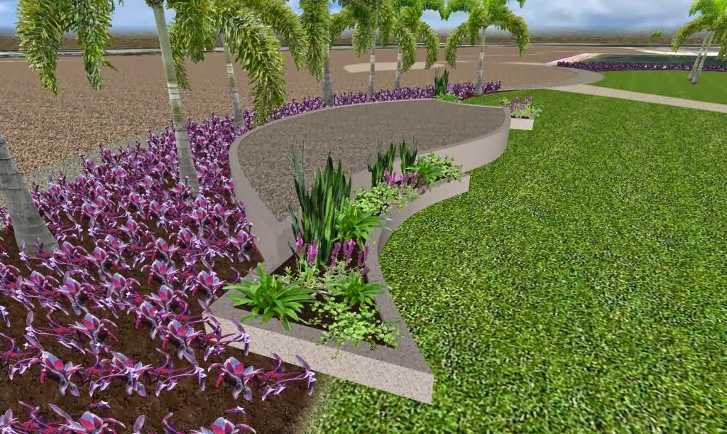 diseño de parque conceptual escenario