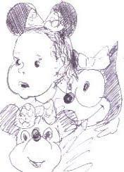Flor, Minnie e Gato Félix (pelo vô)