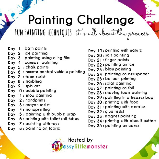 painting technique challenge for kids