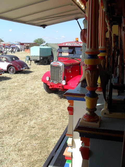 The view from the door of a fairground organ
