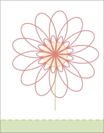 fleur générée à partir d'une équation de fonction polaire