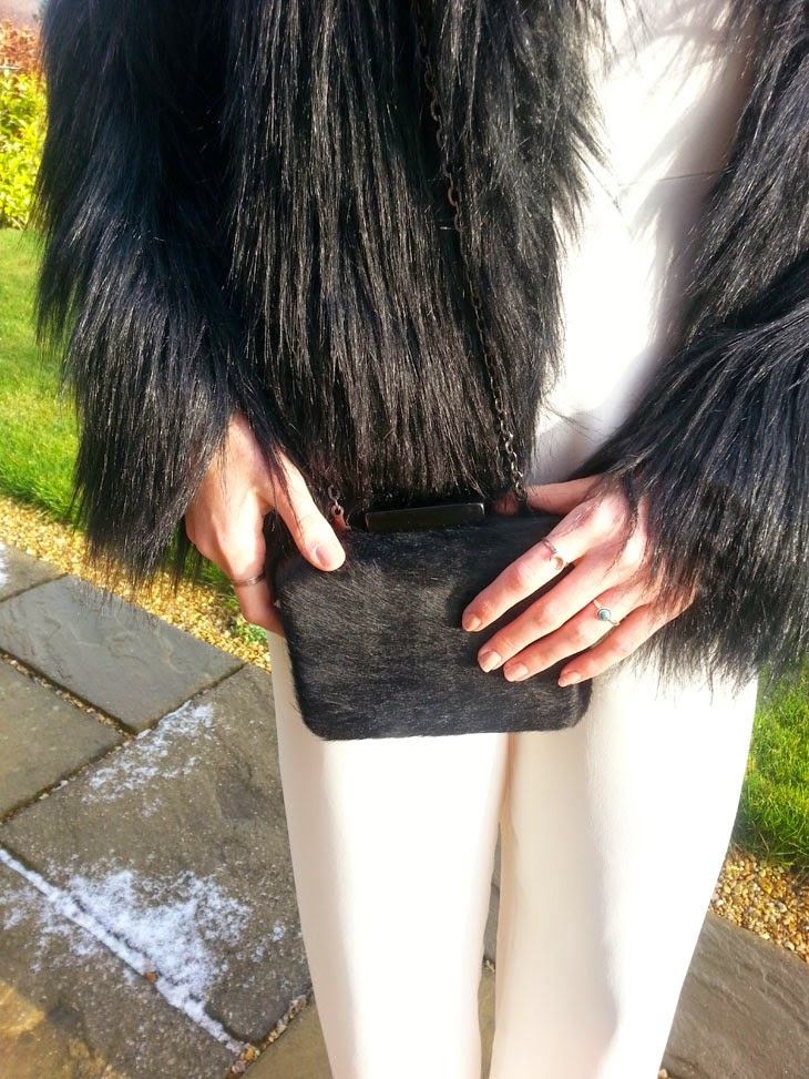 topshop fur evening bag fashion blogger