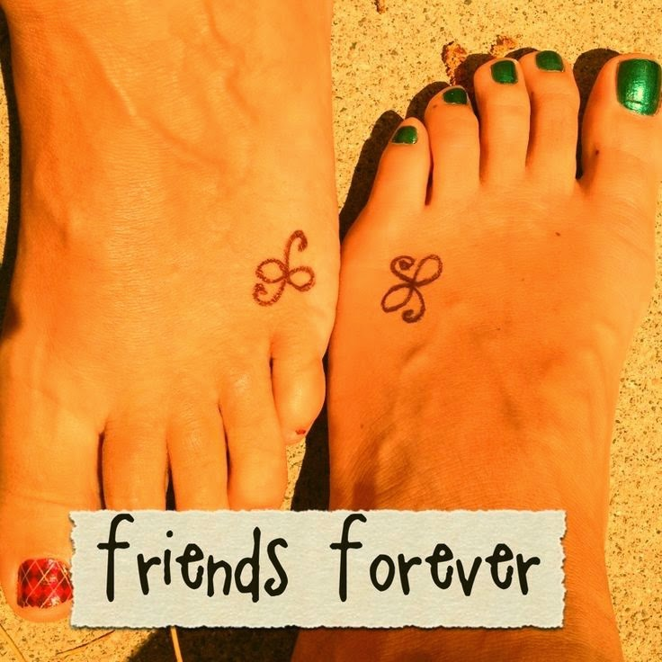 ♥ ♫ ♥ Friendship tattoo...this one is simple but cute donetta! ♥ ♫ ♥