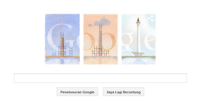 Monumen Nasional Google Doodle Hari Ini