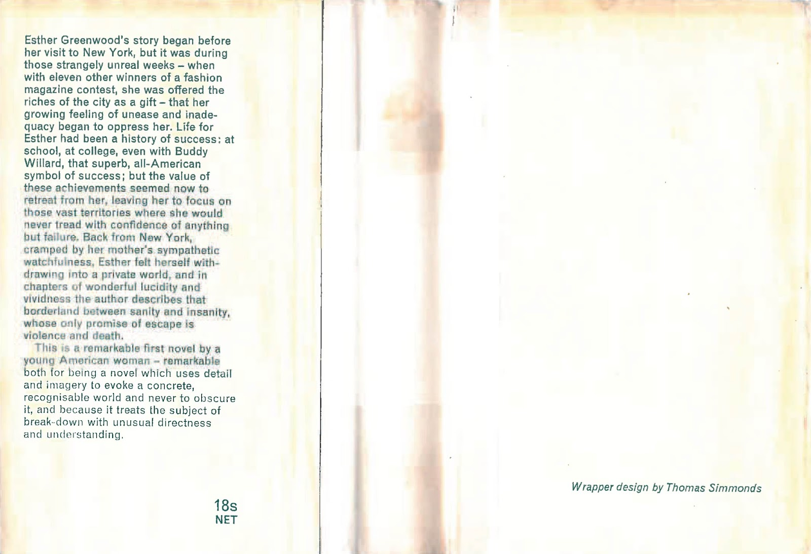 sylvia plath info sylvia plath did you know the front and rear flaps of the bell jar heinemann 1963