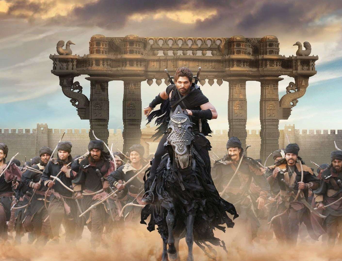 Allu arjun still in Rudhramadevi movie