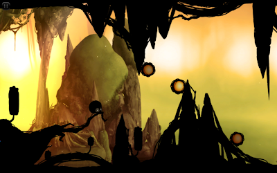 Badland game: Get bigger or smaller at will