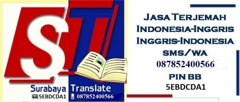 Jasa Terjemah Online WA/Call/SMS: 087852400566 atau pin BB 5EBDCDA1