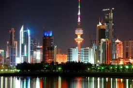 colorful night of kuwait city