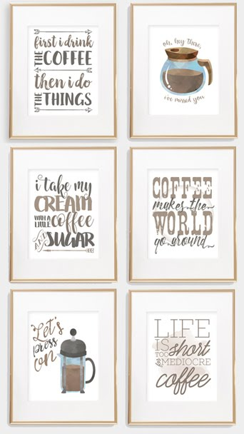 My latest printable bundle is all about COFFEE!