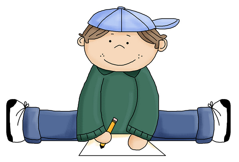 boy writing clip art - photo #13